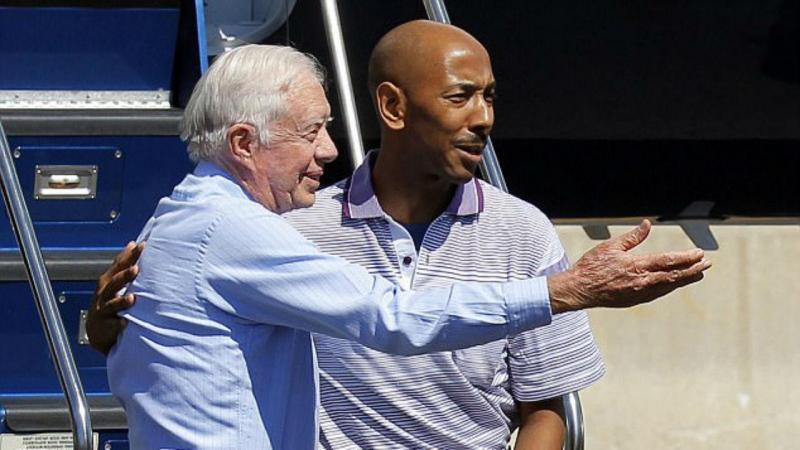 Aijalon Gomes com antigo presidente dos EUA Jimmy Carter