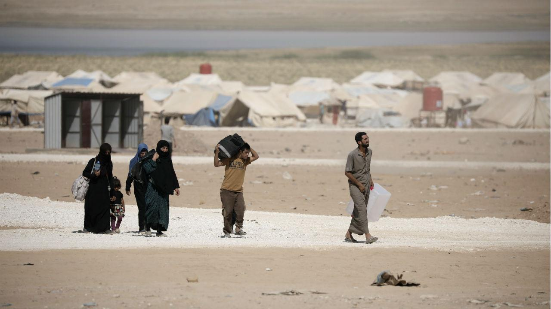 Campo de refugiados do Qana, na Síria