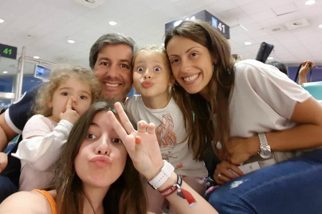 Bruno de Carvalho, Joana Ornelas e as filhas