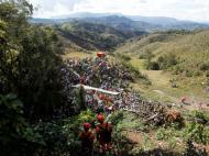 Homenagem na Colômbia às vítimas da tragédia da Chapecoense (REUTERS/Fredy Builes)