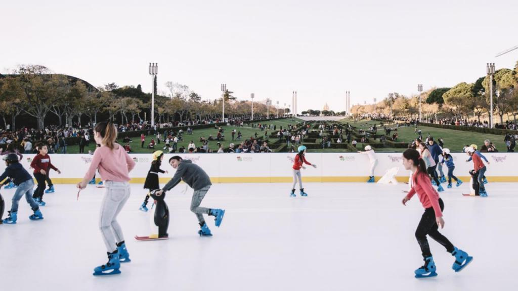 A pista de gelo do Wonderland