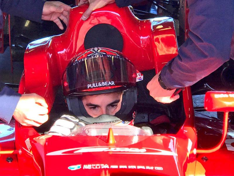 Marc Márquez ficou encantado com monolugar F3