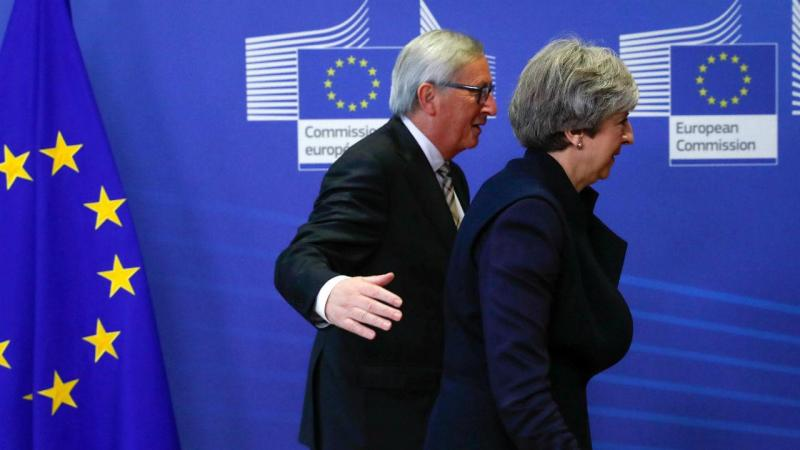 Brexit - Theresa May e Jean Claude Juncker