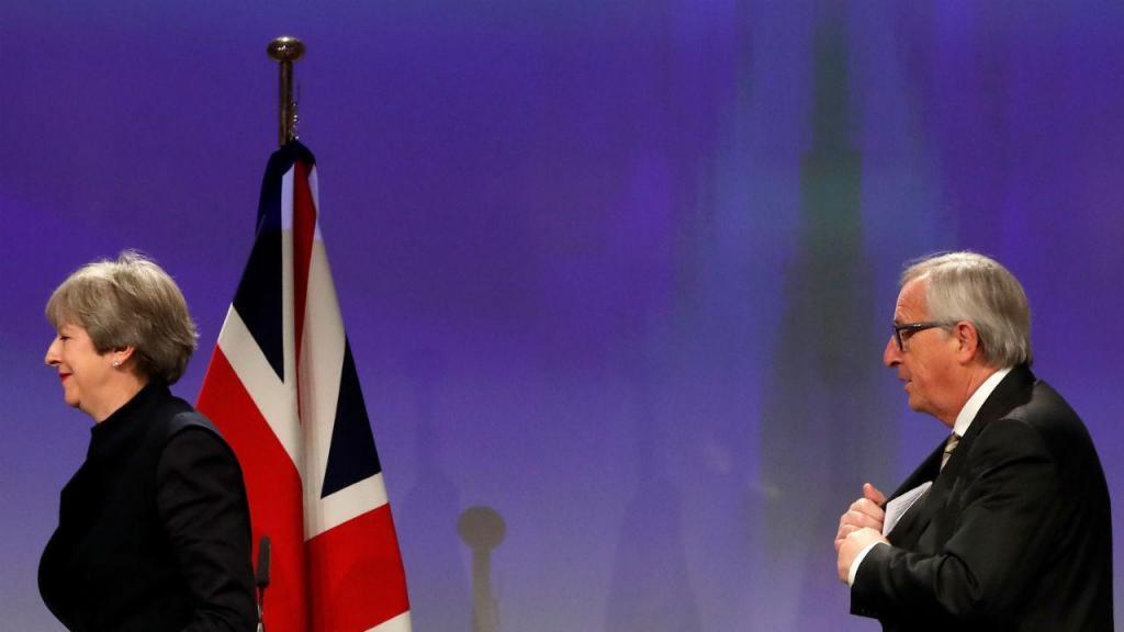 Brexit - Theresa May e Jean Claude Juncker