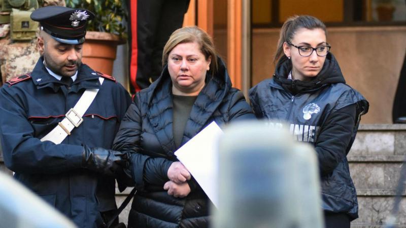 Mariangela Di Trapani foi detida pela polícia italiana