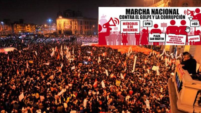 Manifestação em Lima, Peru