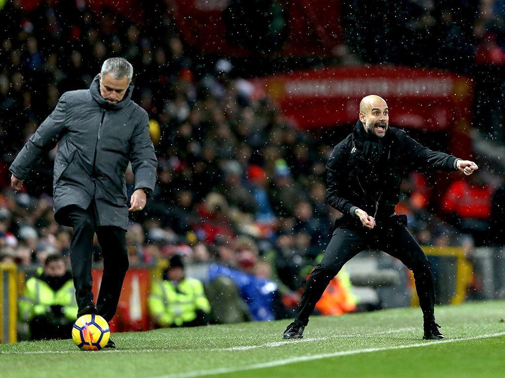 Mourinho e Guardiola (Lusa)