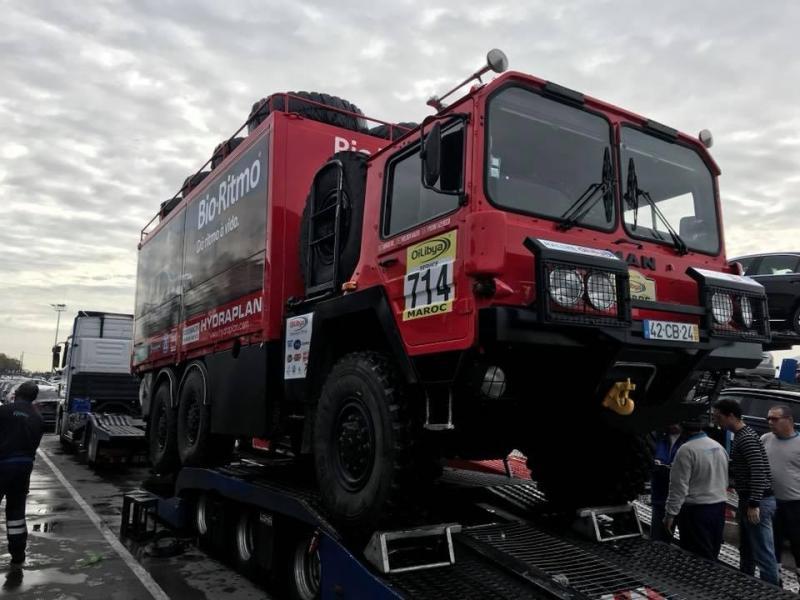 Camiões de Elisabete Jacinto a caminho do Africa Eco Race