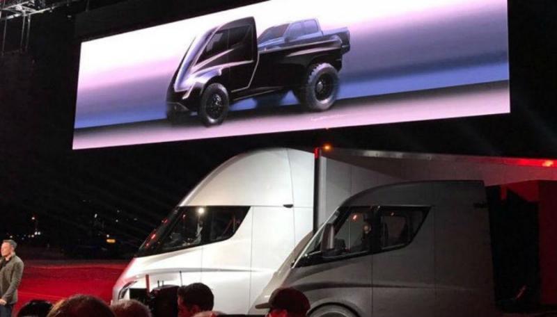 Pick up Tesla semi-revelado na apresentação do Camião