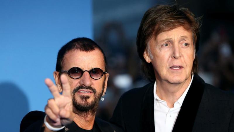 Ex-Beatles Ringo Starr e Paul McCartney