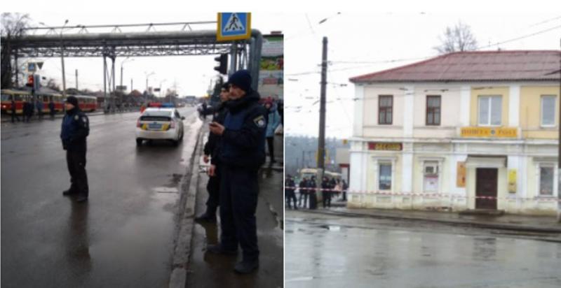 Kharkiv (Ucrânia) - Homem armado barricado em posto de correios
