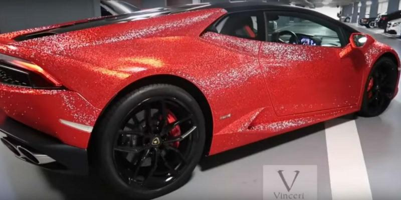 Lamborghini Huracán com cristais Swarovski (reprodução YouTube Vinceri UK)