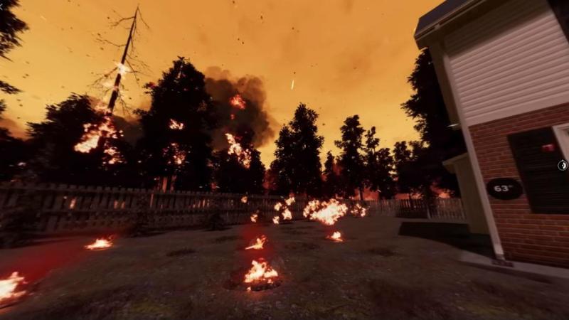 Autoridades divulgaram simulação de uma situação de incêndio e as três escolhas possíveis