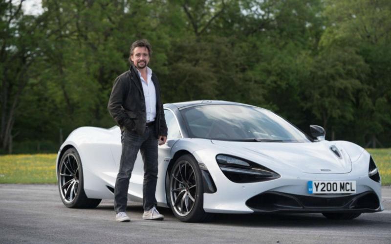 Richard Hammond com o McLaren 720S (reprodução Facebook The Grand Tour)