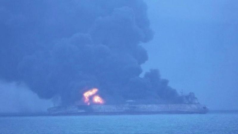 32 tripulantes de petroleiro do Irão desaparecidos