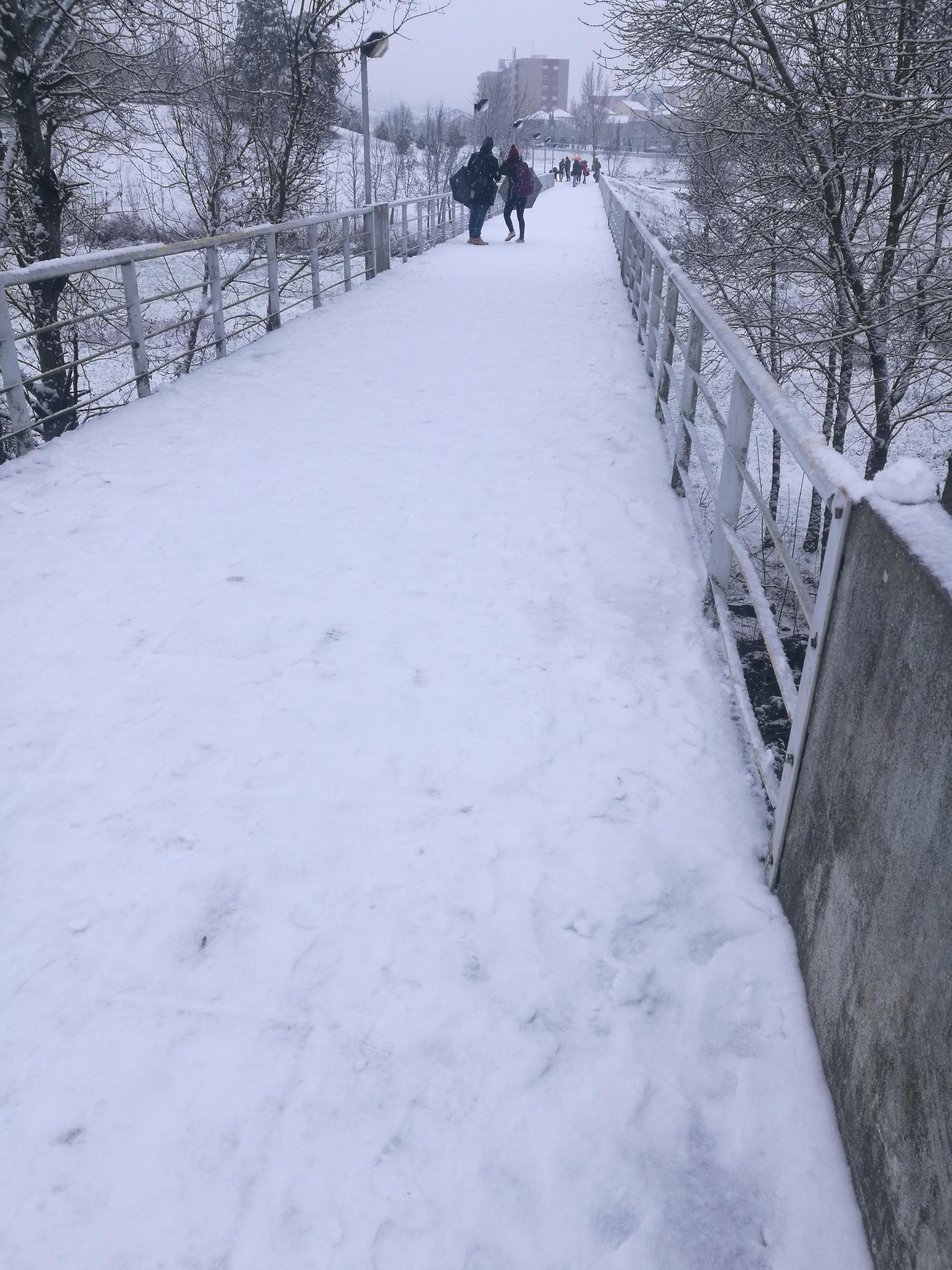Neve em Bragança