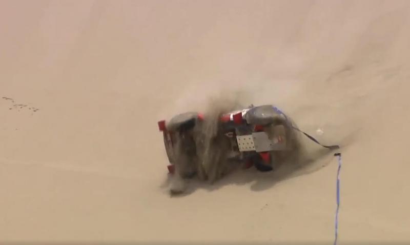 Roberto Recalde viu o seu Isuzu rebolar nas dunas
