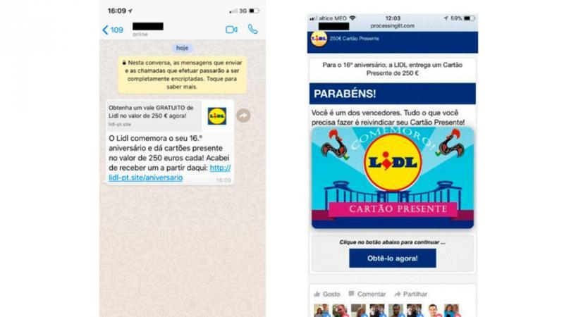 Fraude: Atenção ao falso cartão presente de 250 euros do Lidl