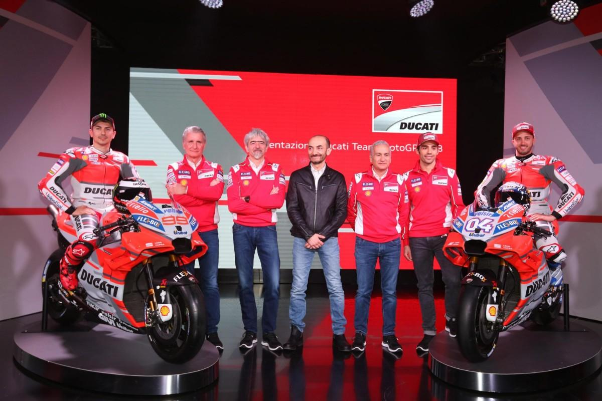 Ducati apresenta a Desmosedici GP 2018