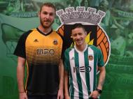 Makaridze e Diego Lopes (Fonte: Rio Ave)