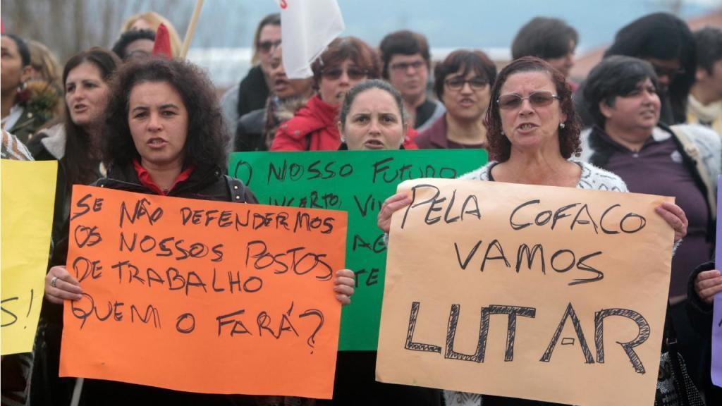 Manifestação trabalhadoras da Cofaco - Horta, Açores