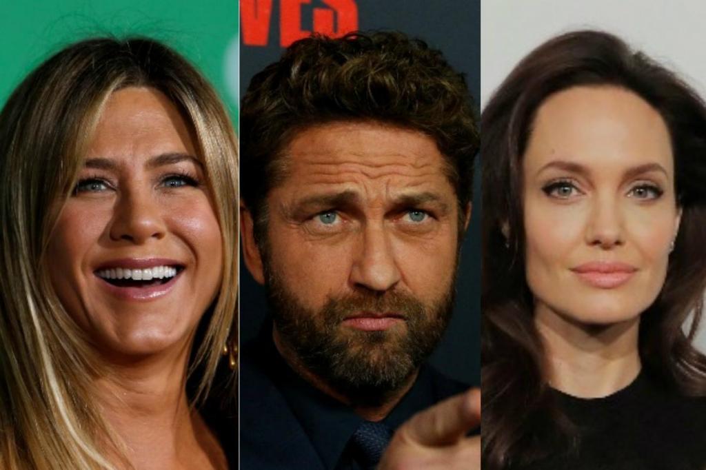 Jennifer Aniston, Gerard Butler e Angelina Jolie