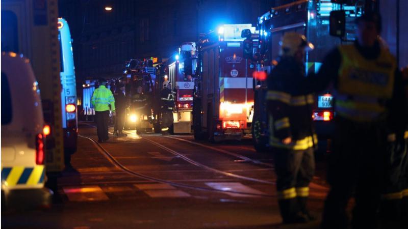 Praga - incêndio em Hotel