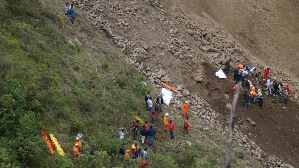 Deslizamento de terras na Colômbia