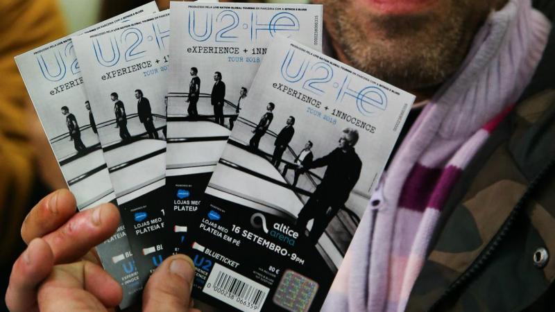 Vendidos os primeiros bilhetes para os U2
