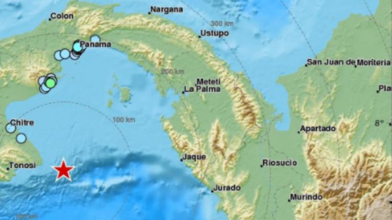 Sismo no Panamá