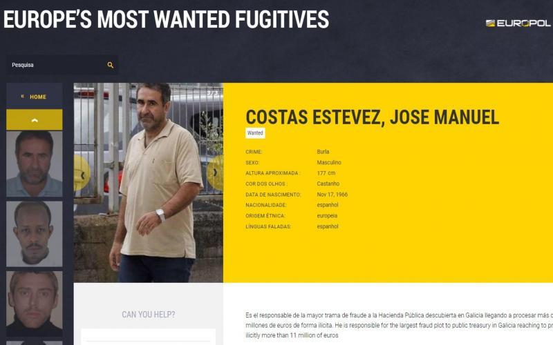 Jose Manuel Costas - carpinteiro galego procurado por burla em esquema de facturas falsas