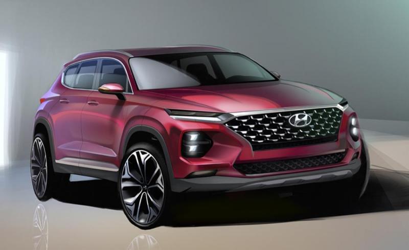 Rendering do Hyundai Santa Fe