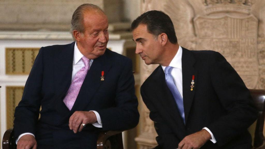 Cerimónia em que Juan Carlos abdicou do trono, em Madrid (18 junho 2014)