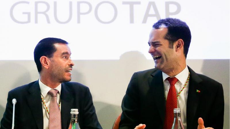 Miguel Frasquilho (presidente do Conselho de Administração da TAP) e Antonoaldo Neves