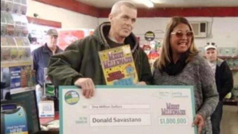 Donald Savastano ganhou um milhão de dólares