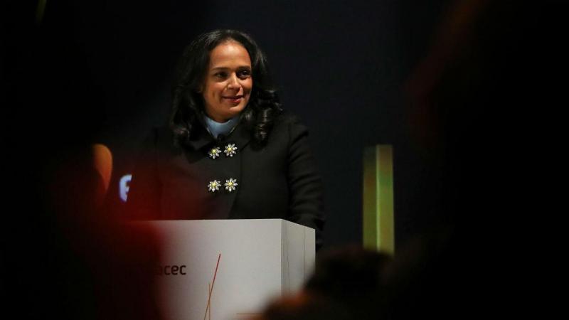 Acionista maioritária, Isabel dos Santos a discursar durante a inauguração da EFACEC