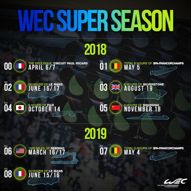 Calendário WEC 2018/2019