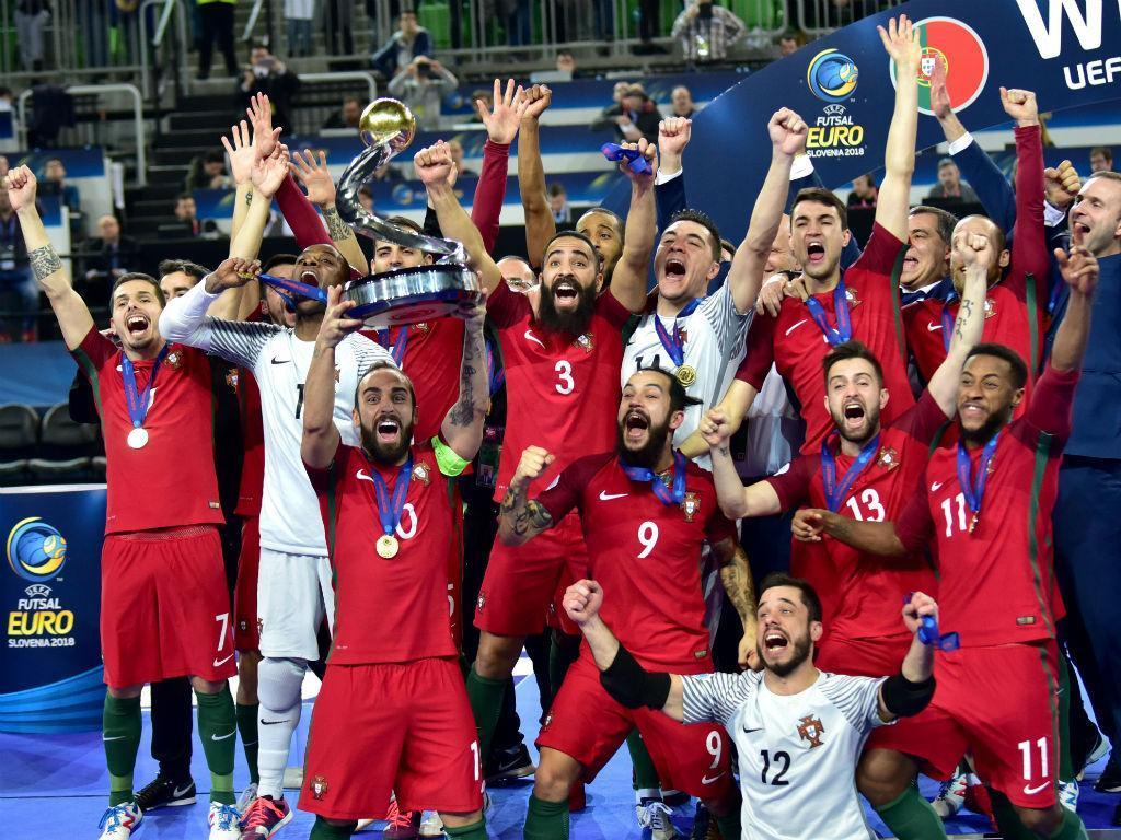Portugal é campeão europeu de futsal (EPA)