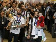 Regresso a Portugal dos campeões europeus de futsal (Lusa)