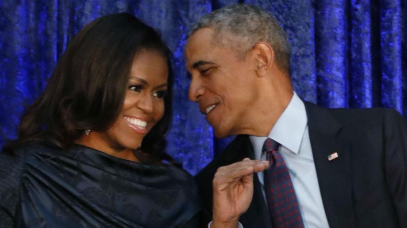 Retratos do casal Obama revelados