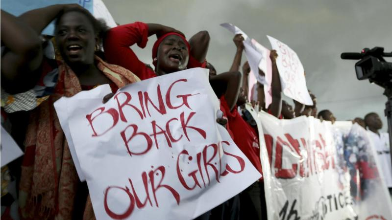 Chibok (Nigéria) - Protesto contra rapto de raparigas por elementos do Boko Haram
