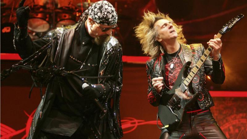 Rob Halford e o guitarrista Glenn Tipton - Judas Priest