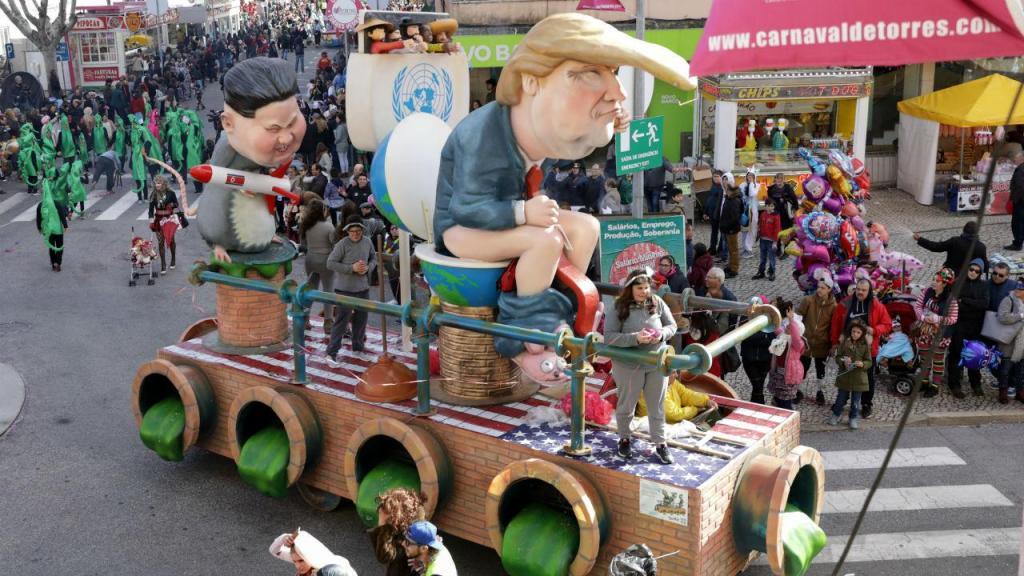 Kim Jong-un e Donald Trump no Carnaval de Torres Vedras