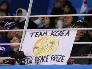 Feminino: Hóquei no gelo: Coreias-Japão (Reuters)