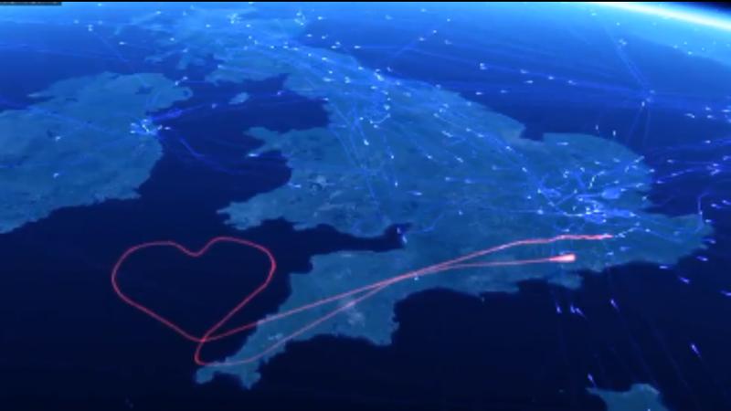 Voo VS850P partilhou em direto o trajeto no site FlightRadar24