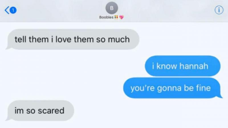 SMS de aluna do liceu da Florida onde ocorreu tiroteio