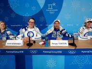 Delegação finlandesa nos Jogos Olímpicos e Inverno (foto Reuters)