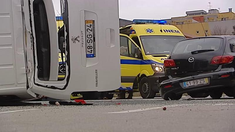Aparatoso acidente feriu seis crianças no Porto