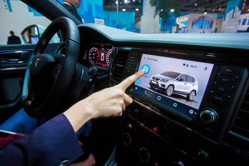 App Shazam integrado no sistema de infotainment da SEAT