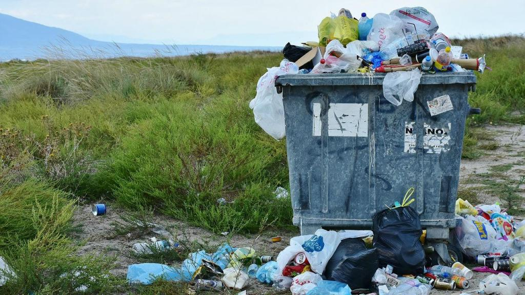 Plástico - lixo amontoado